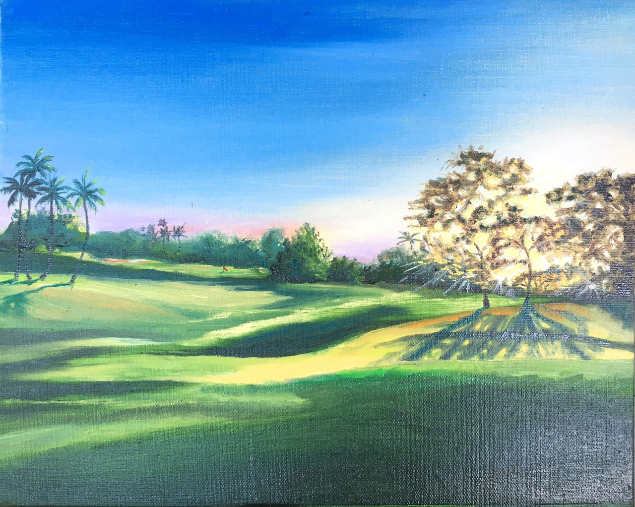 '9th Hole on the Blue- Wailea' 9 x 12 Oil on Linen Diane Appler