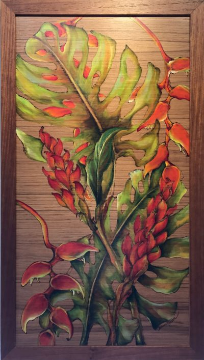 Heliconia and Ginger Oil Painting