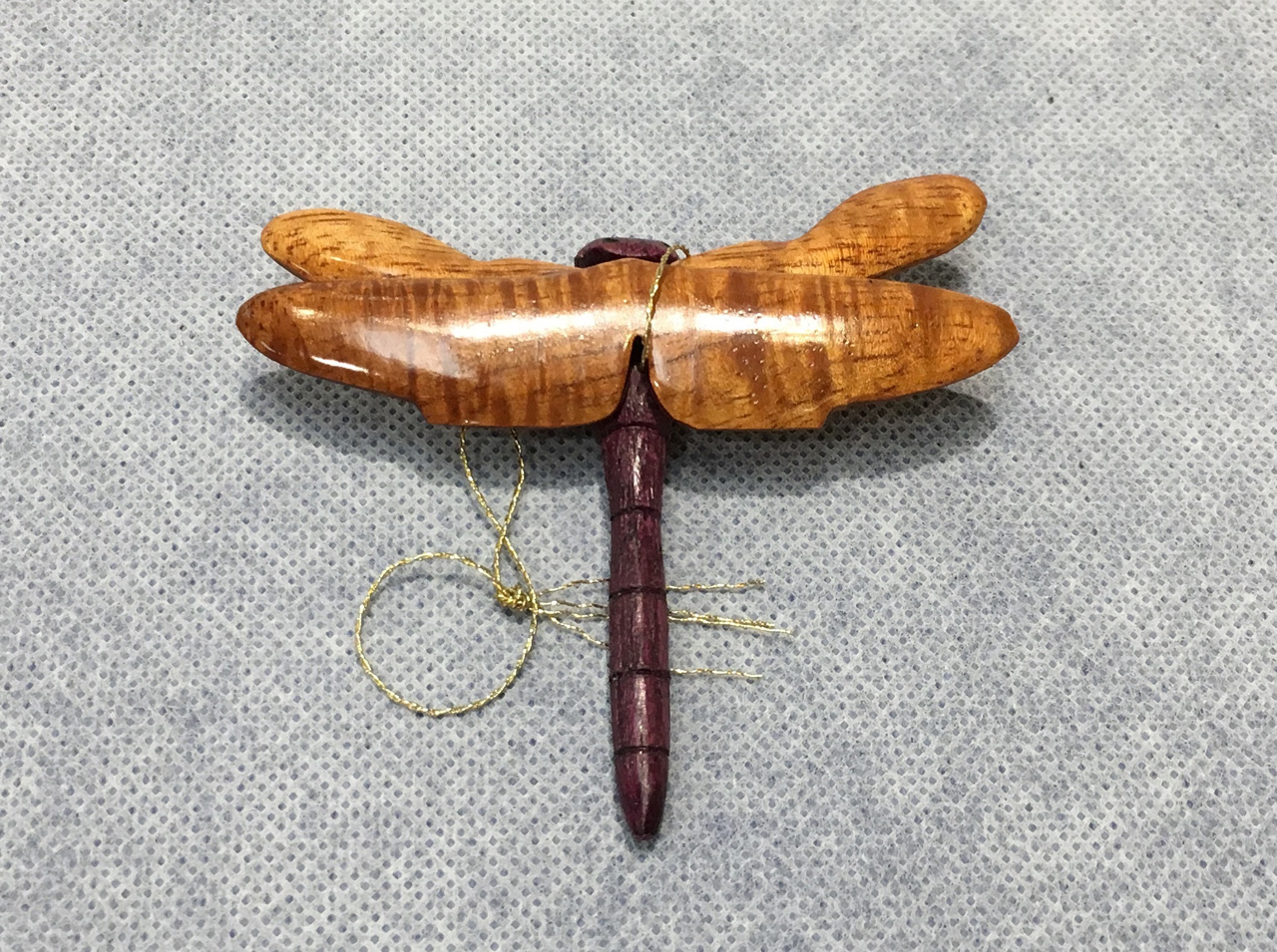 Koa Dragonfly Ornament