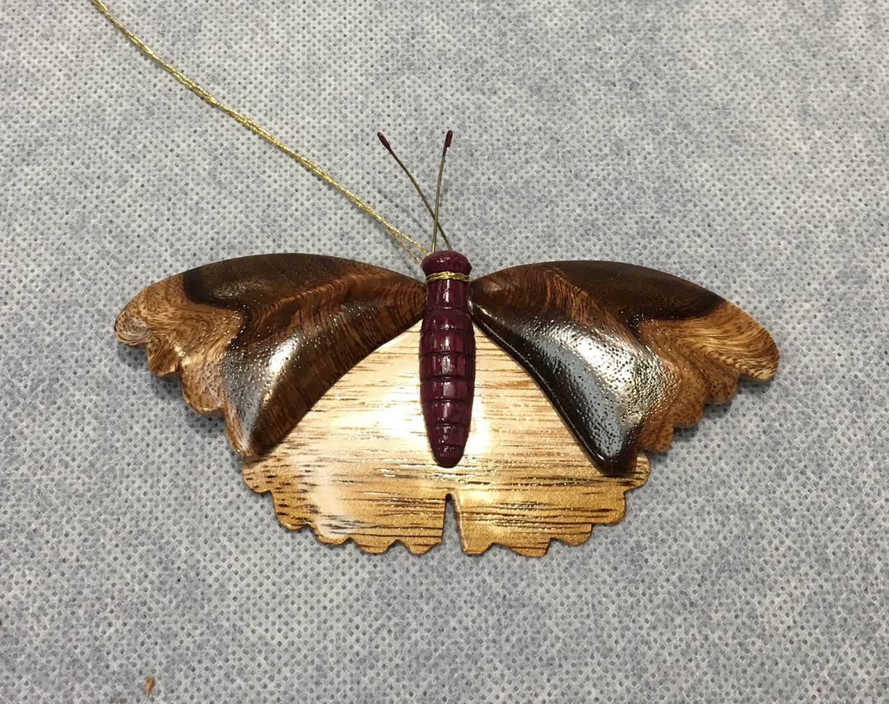 Koa Moth Ornament