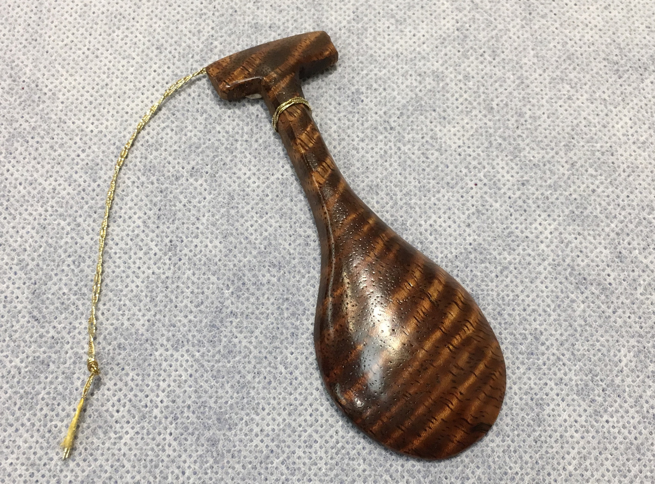 Koa Paddle Ornament