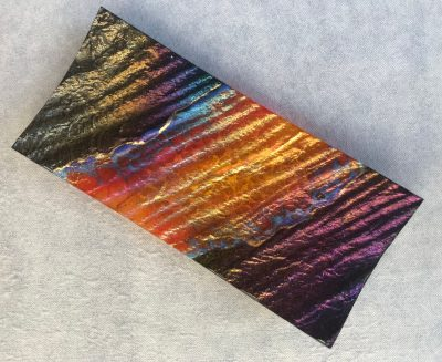 Glass Retangular Platter by Marian Fieldson lava colors