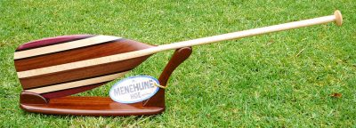 Wood Standard Paddle by Mel Ross with stand