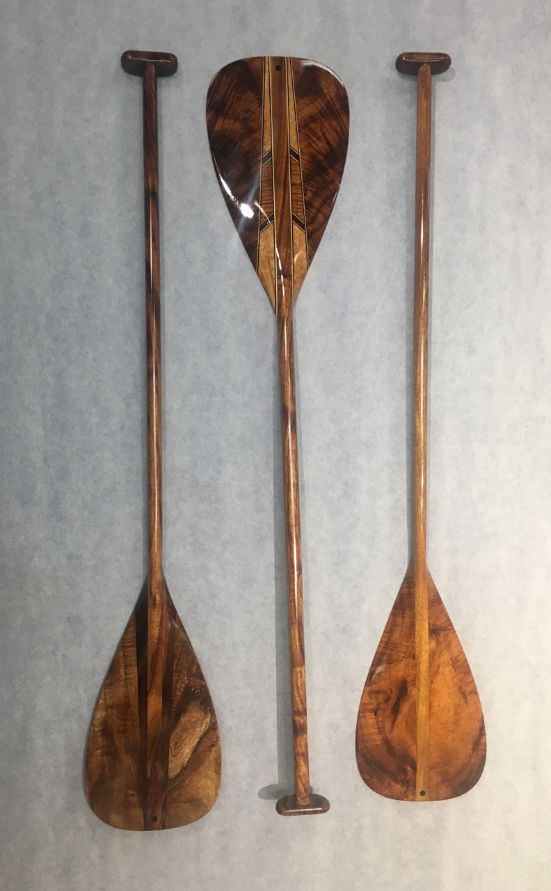 Three Canoe Paddles by Mel Ross