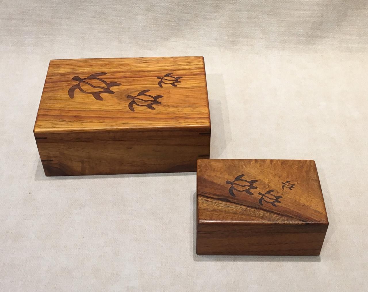 Honu Petroglyph Koa Engraved Boxes Gallery