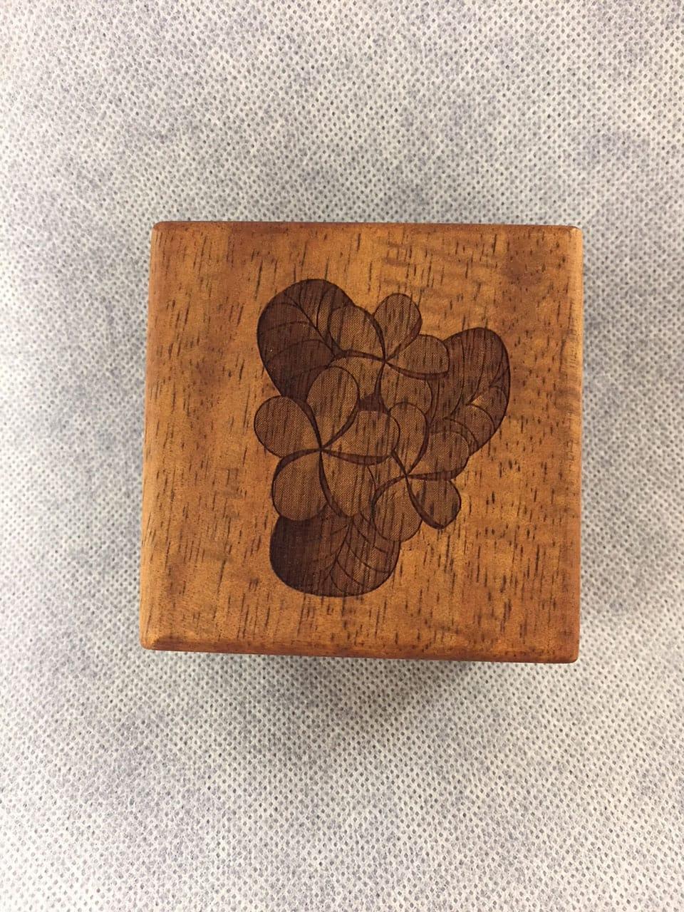 Plumeria Engraved Box