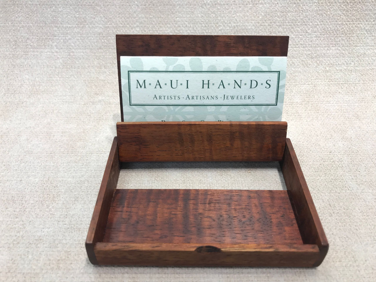 Koa Wood Business Card Carrying Case