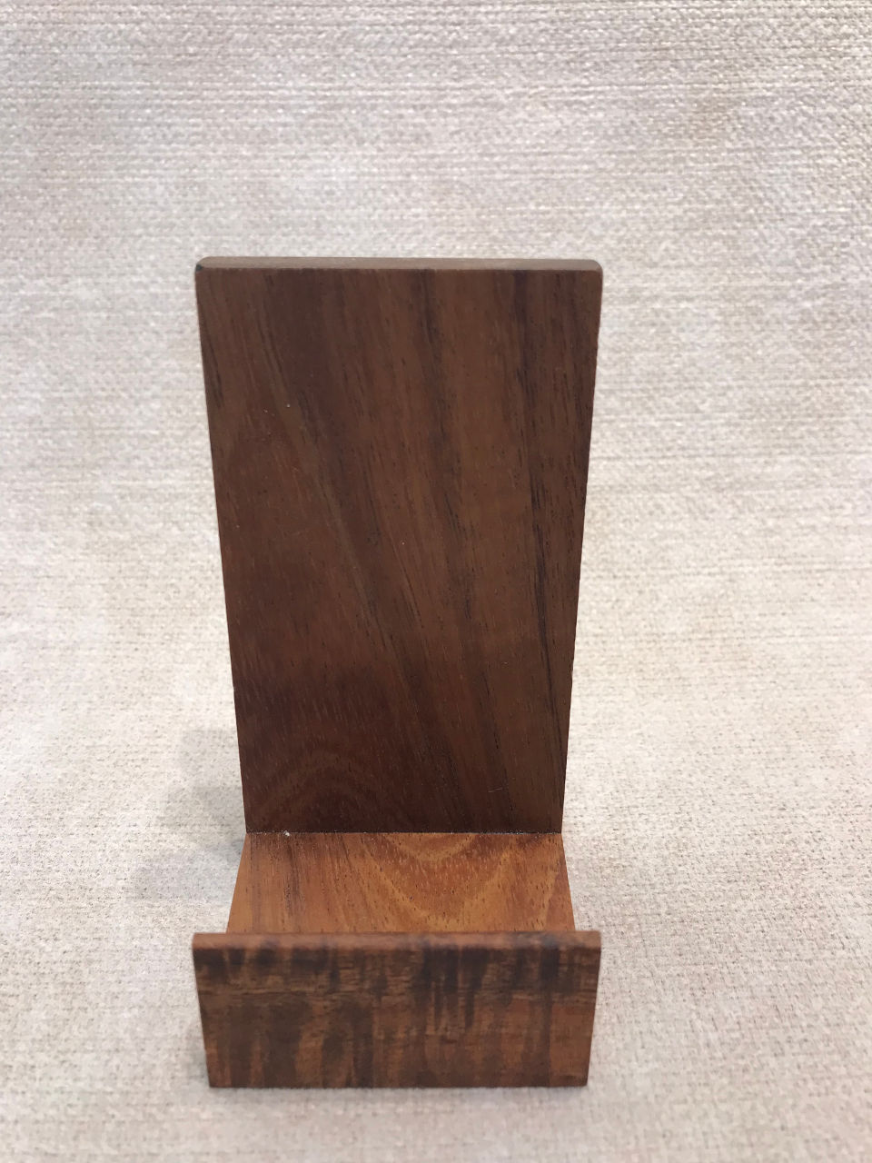 Koa Wood Business Card Holder Vertical