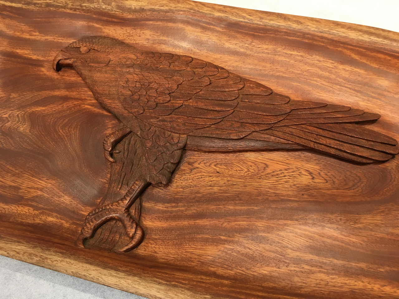 Kamani Wood Hawk Carving