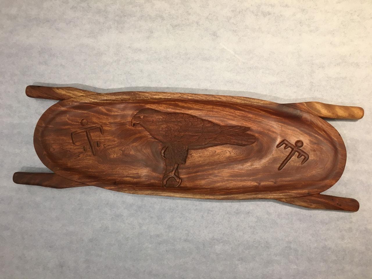 Kamani Wood Hawk Carving
