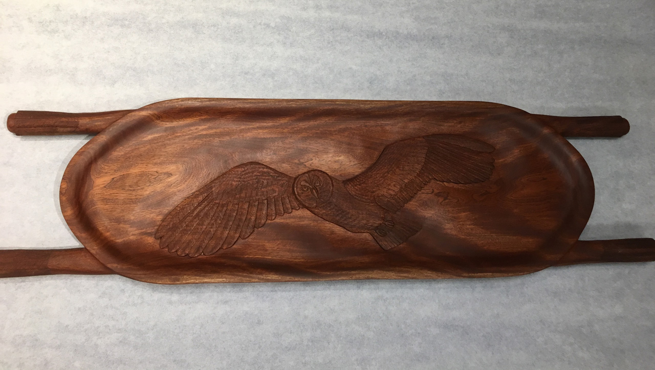 Kamani Wood Pueo Owl Carving