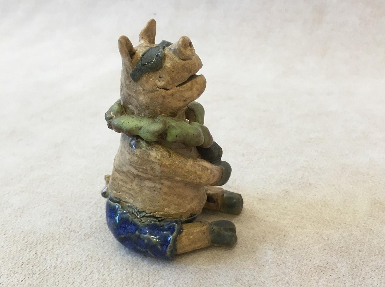 Pig by Robin Fahey Cameron hand built clay