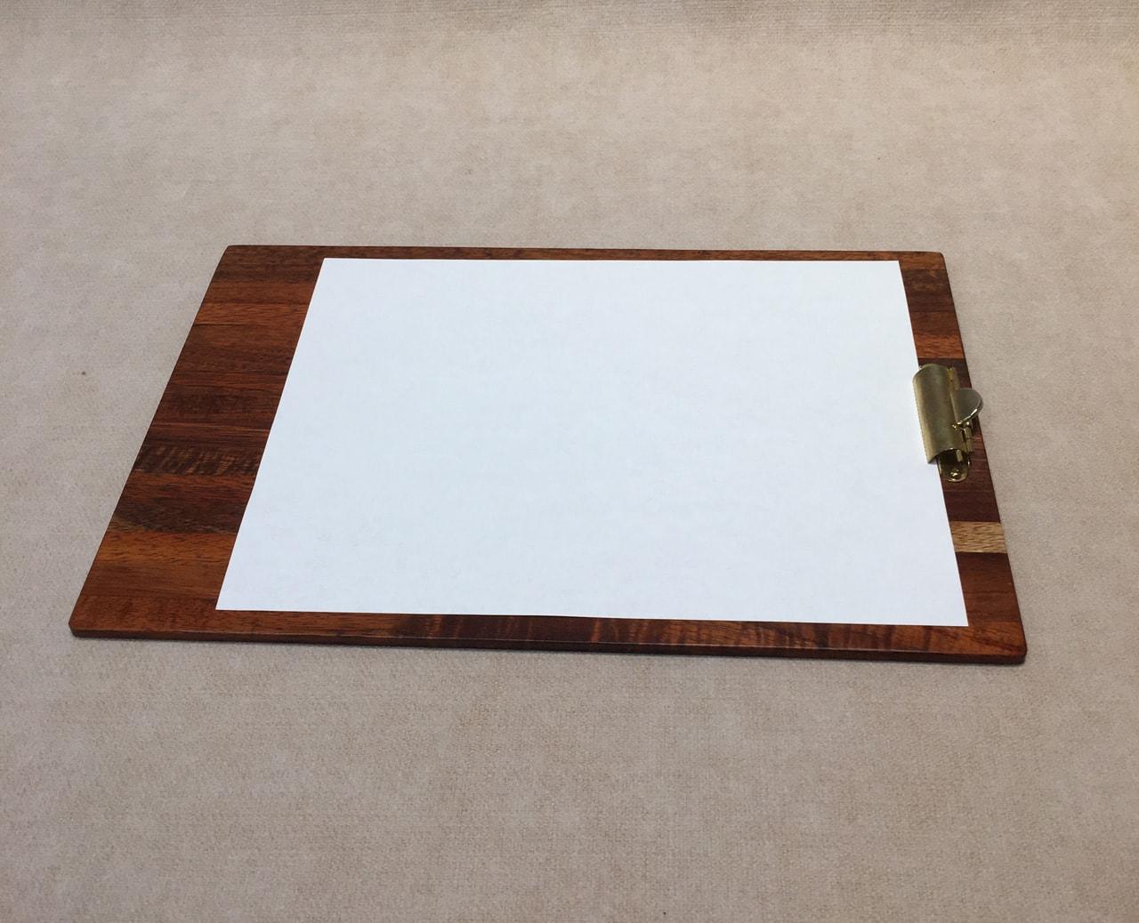 Koa Wood Clipboard