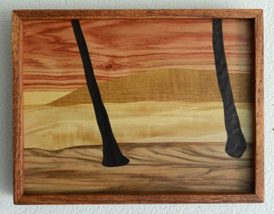 Napili Kai Lanai Sunset by Gary Forrest marquetry in assortetd woods