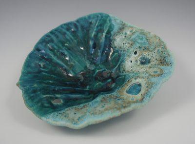 Sea Shell Bowl by Lee Oululani Plevney. Ocean-inspired ceramic art handmade on Maui, Hawaii.