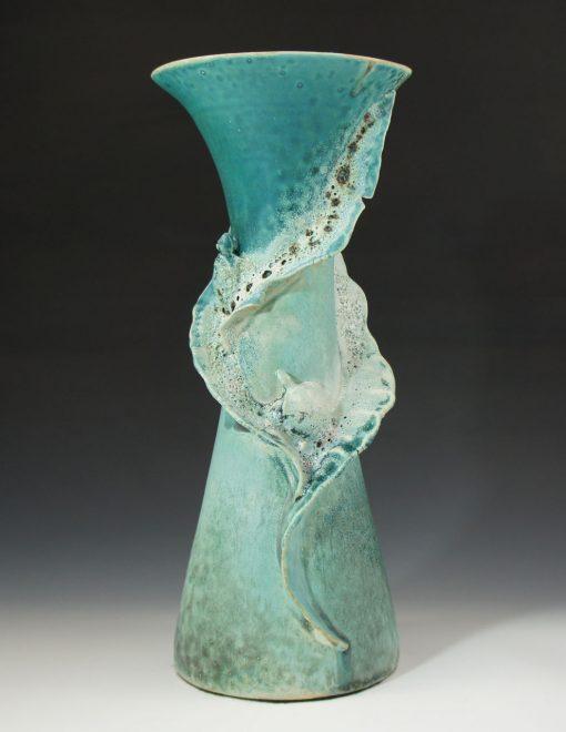 Honu - Sea Turtle Vase by Lee Oululani Plevney. Ocean-inspired ceramic art handmade on Maui, Hawaii.