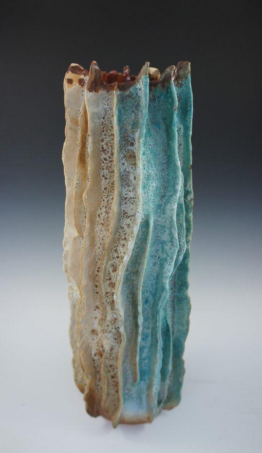 Lava Tube Vase by Lee Oululani Plevney. Ocean-inspired ceramic art handmade on Maui, Hawaii.
