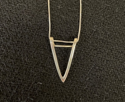 "Silver V Pendant Necklace - Victory"" by Patricia Prats - PAH032"