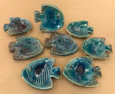 Fish Sculptures by David Crockett
