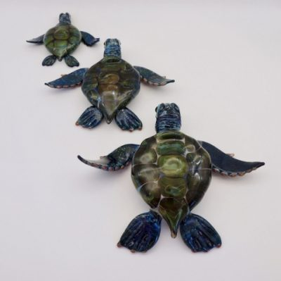Handblown Glass Honu Freestanding by Chris Upp - Small, Medium, and Large Examples