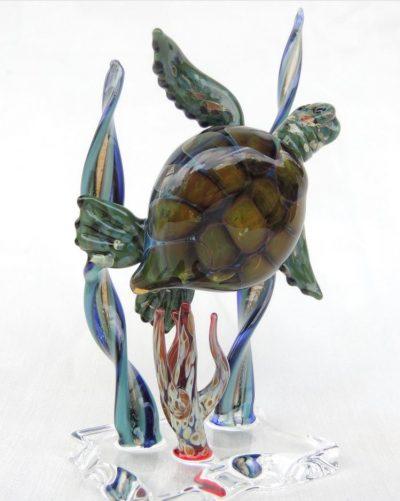 Handblown Glass Honu Sculpture by Chris Upp - Example