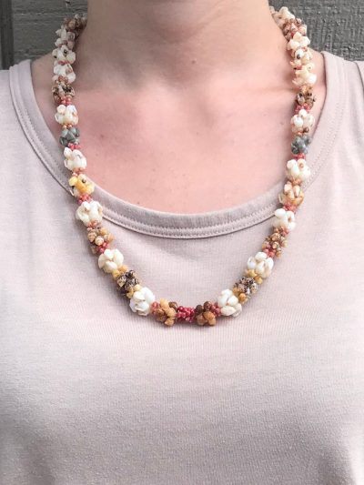 "22"" Double Crown Flower Kauai Shell Lei"