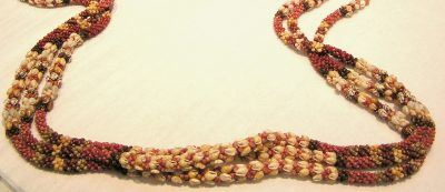 Museum Quality 3 Strand Double Heleconia Poepoe Lei