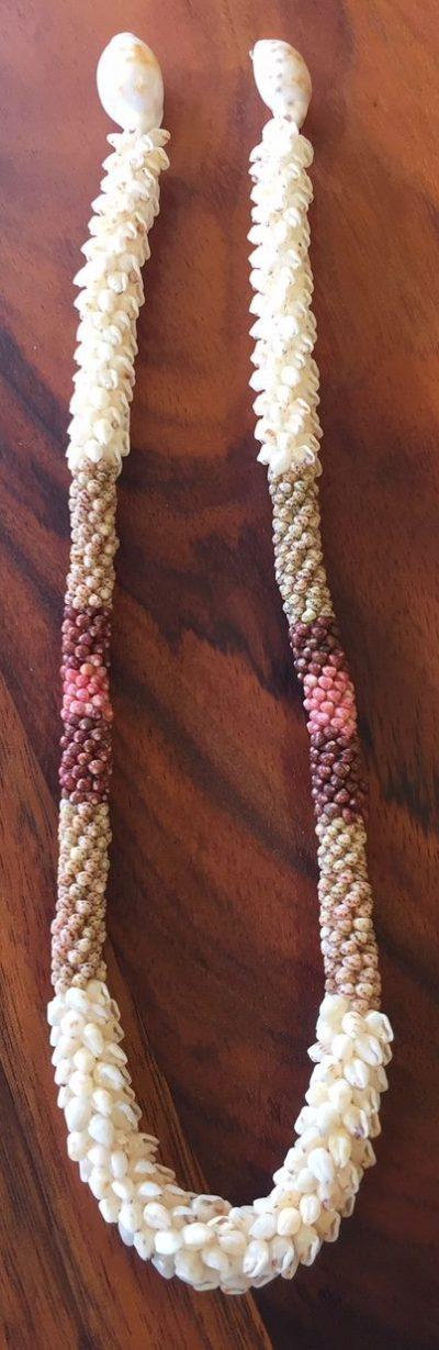 "Niʻihau Collectors' Lei, 22"" 6-Strand Kipona Crochet. Crafted by master artisan Imi Kanahele."