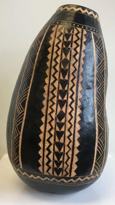 Black Vase Gourd by Neola Caveny - 1