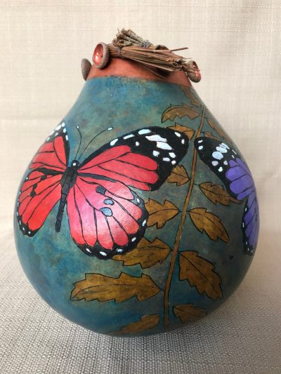 Butterfly Leaf Gourd by Nancy Rhoades - 1