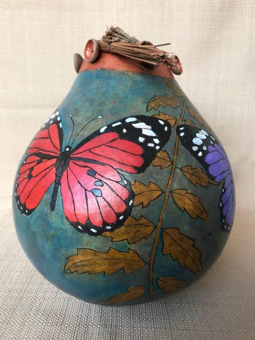 Butterfly Leaf Gourd by Nancy Rhoades - 1