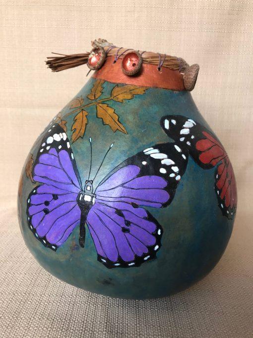 Butterfly Leaf Gourd by Nancy Rhoades - 2