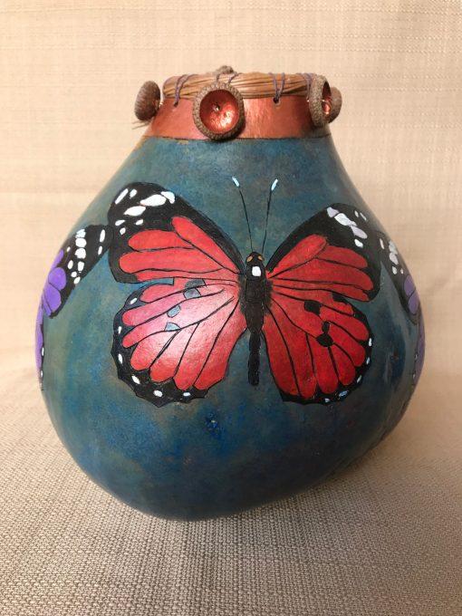 Butterfly Leaf Gourd by Nancy Rhoades - 3