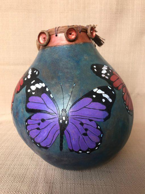 Butterfly Leaf Gourd by Nancy Rhoades - 4