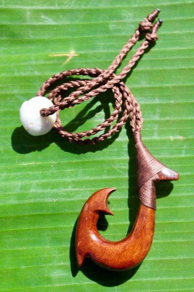 Fish Hook Necklace by Sam Grim - SAM839 - 2