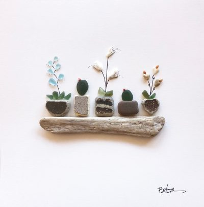 """Five Potted Plants"" by Beba O'Brien"
