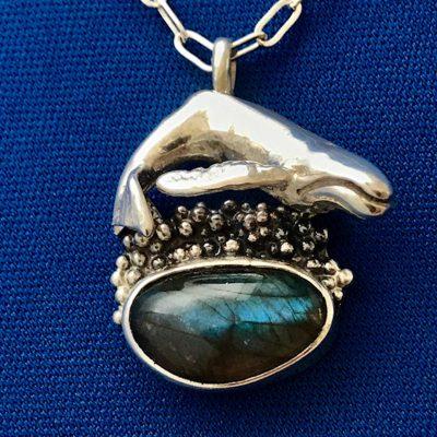 Labradorite Whale Pendant by Jack Hamilton - JHJW10