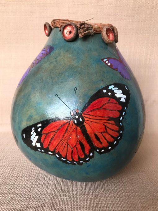 Multi Butterfly Gourd by Nancy Rhoades - 1