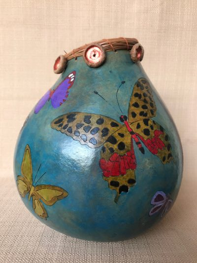 Multi Butterfly Gourd by Nancy Rhoades - 2