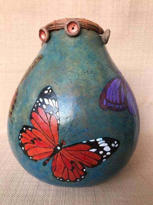 Multi Butterfly Gourd by Nancy Rhoades - 3