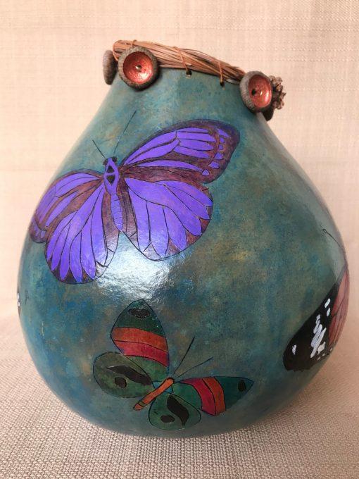 Multi Butterfly Gourd by Nancy Rhoades - 4