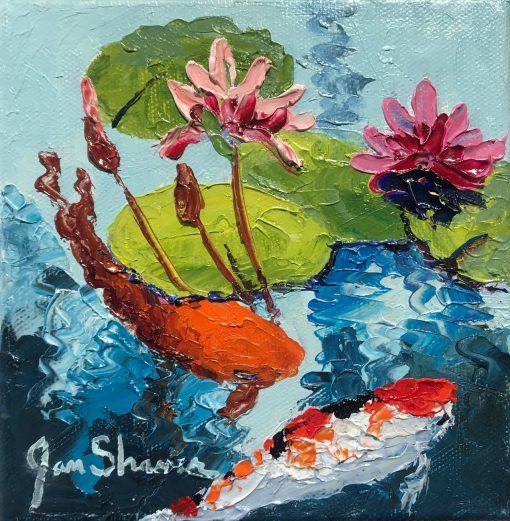 """""""Pink Lillies II"""" by Jan Shaner"""