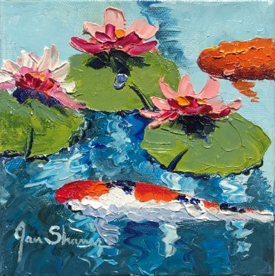 """Pink Lillies I"" by Jan Shaner"