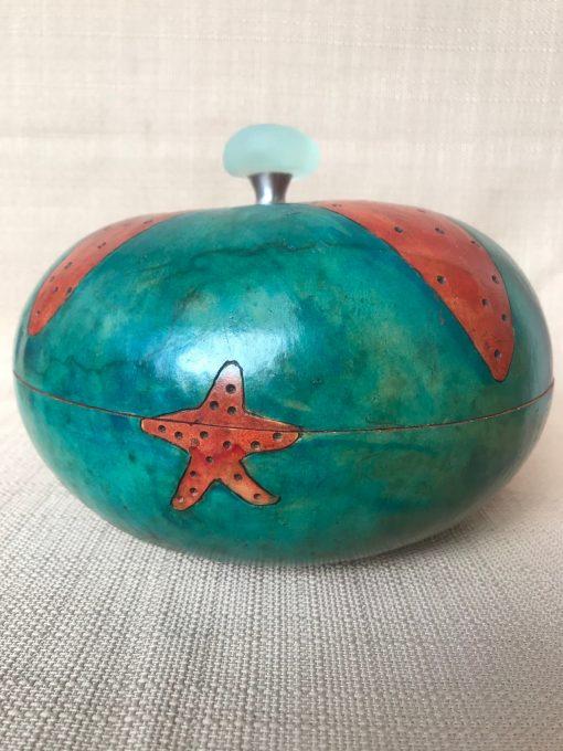 Starfish Bowl Gourd by Nancy Rhoades - 1