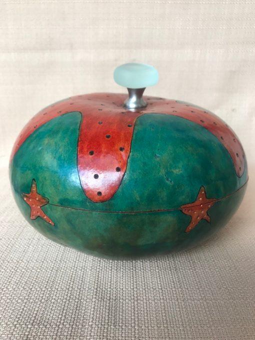Starfish Bowl Gourd by Nancy Rhoades - 3
