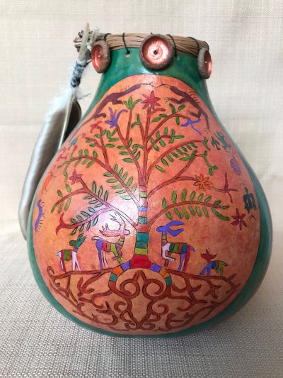 Tree Of Life Gourd by Nancy Rhoades - 1