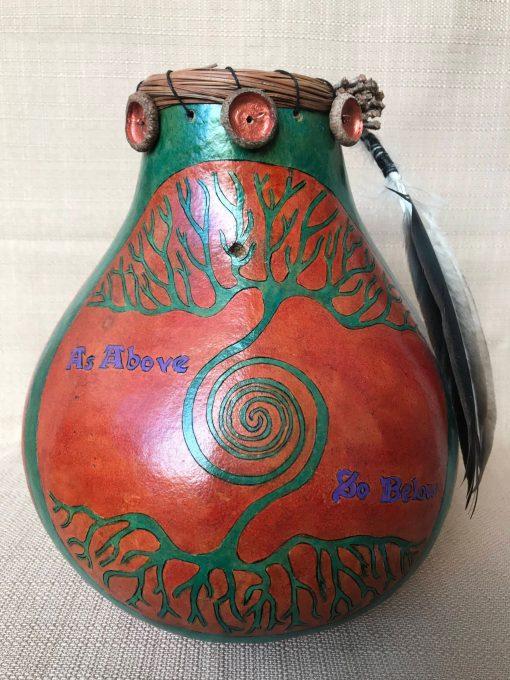 Tree Of Life Gourd by Nancy Rhoades - 3