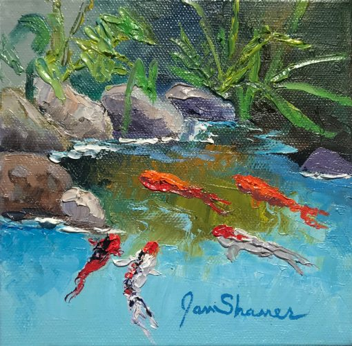 """Upcountry Koi I"" by Jan Shaner"