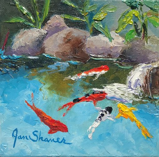 """Upcountry Koi II"" by Jan Shaner"