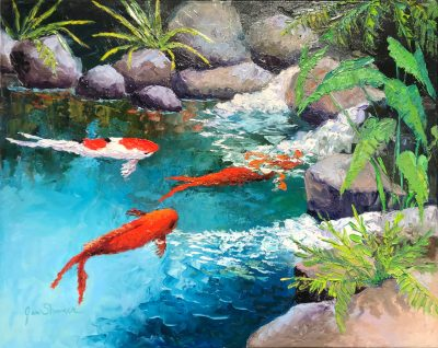 """Upcountry Koi Pond"" by Jan Shaner"